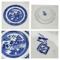 Ridgway England Engraved 1832 Semi China Blue Willow Small Saucer