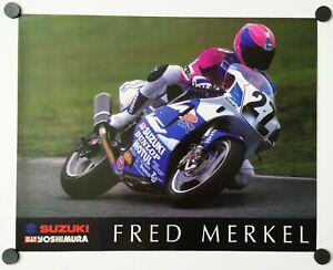 Vintage Poster 1995 Fred Merkel Yoshimura Suzuki GSX R750