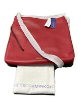 Rebecca Minkoff HR26IROH29 Rochelle Hobo Color Deep Red NWT MSRP $295 + Dust Bag