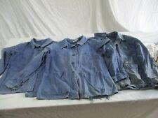 lot 3 veste bleu de travail ancienne.