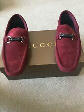 8ded72c57 Pre Owned Gorgeous vintage men's Dark Red Gucci suede drivers/loafers sz 8/ US