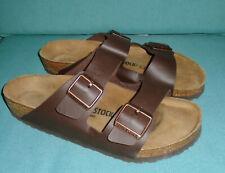 BIRKENSTOCK Sandals ARIZONA Slip On SOLID BROWN Cork Footbed Shoes Men Sz 8 (41)