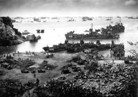 WWII Photo Okinawa Invasion Beach April 1945 WW2 World War Two Japan