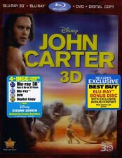 John Carter Best Buy Exclusive Blu-ray/DVD 2012 5-Disc Set Digital Copy 3D/2D