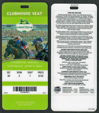 AMERICAN PHAROAH - 2015 BELMONT STAKES CLUBHOUSE HORSE RACING ADMISSION TICKET!