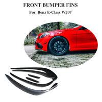 6x Carbon Splitter Flaps Front Canards Spoiler Lippe für Mercedes W207 E-Klasse