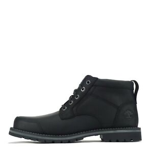 Timberland Men's Larchmont Chukka II Leather Black Full Grain Boots