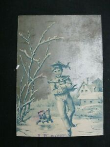 Victorian Trade Card D. Gasper Domestic Sewing Machine Silver Ice Skater 29