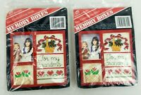 Banar Designs Counted Cross Stitch Frame Memory Boxes Lot of 2