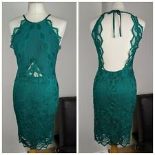 H&M Green Lace Bloggers Dress Perfect Condition Size UK 8