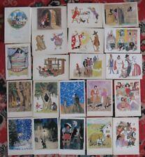 25 Russian Child SET Fairy-tale card PC Andersen POSTCARD Kid Old USSR Kokorin