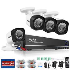 SANNCE 8CH 1080N HDMI DVR 1500TVL Outdoor CCTV Video Home Security Camera System