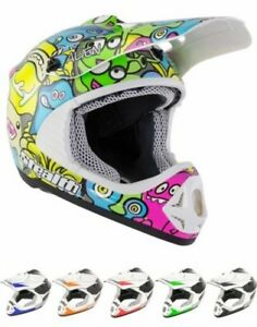 STEALTH Youth Cub Child Junior Motocross ATV BMX Enduro Track Quad Helmet