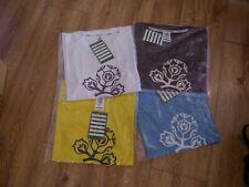 4 x Brand New Euro 2012 Mens Medium T Shirts - Blue Yellow White Purple