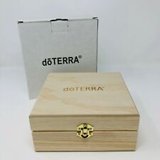 doTERRA Wooden Box Essential Oil Storage Case Carrier Holds 25 Oils - New in Box