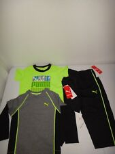 Puma 3-Pc Set Baby Boy's T-Shirt Pants Long Sleeve Top Cotton Polyester Size 18M