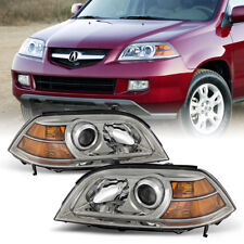 For 04-06 Acura MDX [FACTORY STYLE] Chrome Clear Headlight Complete Assembly Kit