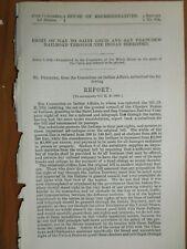 Government Report 4/6/1882 US Saint Louis San Francisco Railroad Indian Land