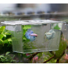 Aquarium Fish Tank Double Breeder Rearing Isolation Box Case Hatchery Incubator