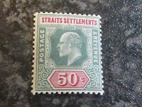 MALAYA STRAITS SETTLEMENTS POSTAGE & REVENUE STAMP SG118 50 CENTS GREEN LMM