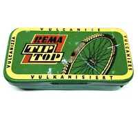 Rema Tip Top Bike Tube Tire Patch Kit Tin Holder Vintage Germany