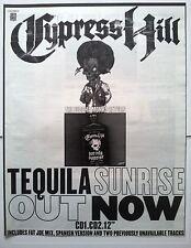 "Cypress Hill Tequila Sunrise  1998  UK Poster size Press ADVERT 14x12"""
