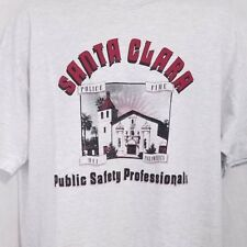 Santa Clara Public Safety Professionals T Shirt Vintage 90s Police Fire Usa Xl