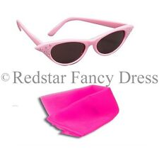 LADIES PINK FANCY DRESS GLASSES AND PINK SCARF SANDY 50'S 1950S COSTUME