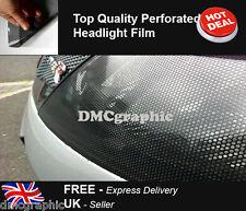 4 Rolls 30x107cm Car Headlight Vinyl Tint Fly Eye Mesh Spi Vision Tint MOT Legal