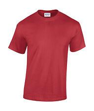 Gildan Pesado Algodón Camiseta T-Shirt Hombre Camisa en Diferentes COLORES S-
