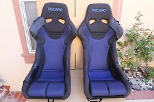 ASM RECARO RSG RS-G LIMITED BUCKET SEATS BLUE WITH LOTS OF EXTRA