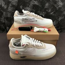 NIKE AIR FORCE 1 X OFF WHITE CON SCATOLA NUOVE NEW SNEAKERS SCARPE BIANCO