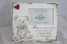 """Baby Tribute Photo Frame Teddy 3D Picture Memories Arms For A While 6x4"""" F1628"""