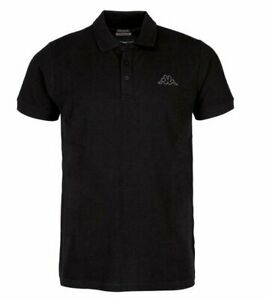 Kappa Peleot Herren Shirt Poloshirt T-Shirt 303173 (Schwarz 005)