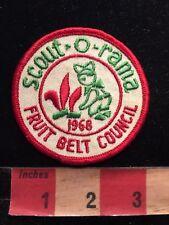 Vtg 1968 FRUIT BELT COUNCIL SCOUT-O-RAMA Boy Scouts Patch C87O