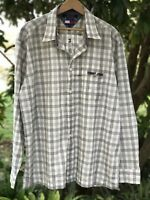 NWT  TOMMY HILFIGER JEANS Button Down Shirt Beige Plaid Long Sleeve Large L