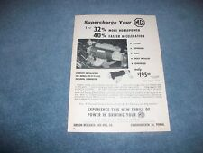 "1955 Judson Superchargers Vintage Ad for MG TD TF TC MKII ""For 32% More HP"""