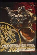 JAPAN Capcom Official Books: Monster Hunter Illustrations Complete Set (Art Book