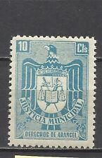 996-SELLO FISCAL ESPAÑA 1940 ETAPA FRANQUISTA JUSTICIA MUNICIPAL 10 CTS NUEVO **