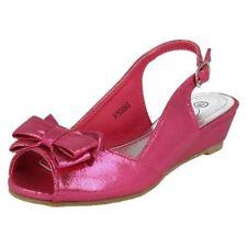 All Seasons Girls' Medium Width Sandals Buckle Shoes