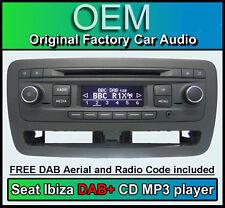 Seat Ibiza DAB + voiture stéréo, siège Dab + Digital Radio Lecteur CD, radio code