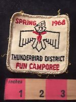 Vintage 1968 THUNDERBIRD DISTRICT CAMPOREE BSA Boy Scouts Patch 83N