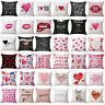 Valentine's Day Cushion Cover Cotton Linen Waist Throw Pillow Case Home Decor