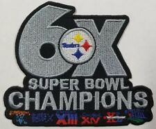 Pittsburgh Steelers~6X Super Bowl Champs Iron on Patch~Free Shipping from USA~