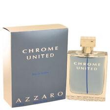 Chrome United Mens  By Azzaro 3.3 / 3.4 oz EDT Spray New In Box