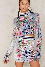 Nasty Gal Jaded London Nature's Madness Velvet Skirt Size Small  RL