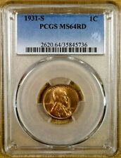 1931-S PCGS MS64 RED Lincoln Cent
