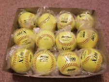 Dozen MacGregor softballs Mcsb 12Yh X100 375 47 Poly Core 12 In Leather New Nfhs