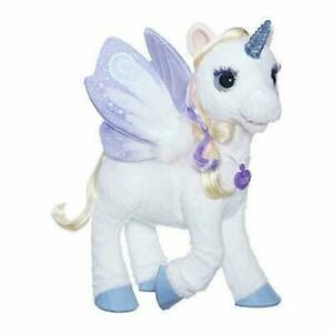 furReal StarLily, My Magical Unicorn Interactive Plush Pet Toy, Light-up Horn