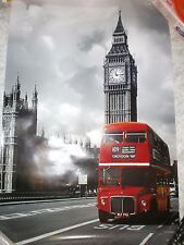 LONDON TRANSPORT ROUTEMASTER BUS POSTER-RM 740 ROUTE 109 AT WESTMINSTER